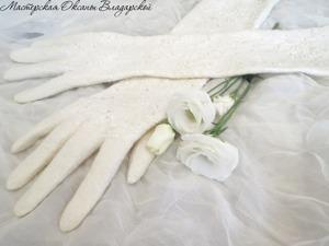 Валяем тончайшие свадебные перчатки из шерсти и шелка. Часть 1. Ярмарка Мастеров - ручная работа, handmade.