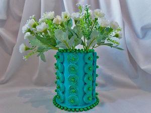 Видео мастер-класс: ваза из картона и бумажных трубочек. Ярмарка Мастеров - ручная работа, handmade.