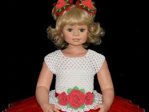 Наряд для девочки из фатина  «Яркий красный». Ярмарка Мастеров - ручная работа, handmade.