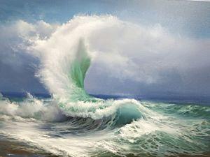 Видеоурок: пишем маслом картину «Волна». Ярмарка Мастеров - ручная работа, handmade.