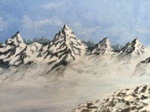 Пишем горы маслом. Ярмарка Мастеров - ручная работа, handmade.