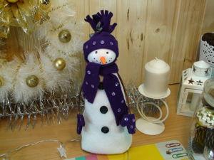 Мастерим снеговика из флиса. Ярмарка Мастеров - ручная работа, handmade.