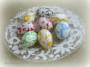 Пасхальное яйцо «Вышивка «Ришелье». Ярмарка Мастеров - ручная работа, handmade.