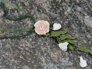 Как сделать цветочный кулон из полимерной глины. Ярмарка Мастеров - ручная работа, handmade.