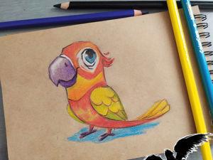 Как нарисовать попугая. Ярмарка Мастеров - ручная работа, handmade.