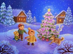 Картины зимнего чуда. Ярмарка Мастеров - ручная работа, handmade.