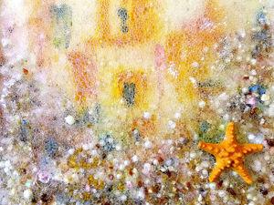 Картина Янтарный город в Подводном царстве. Ярмарка Мастеров - ручная работа, handmade.