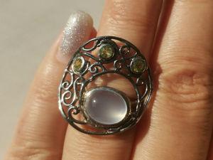 Видео кольца с халцедоном. Ярмарка Мастеров - ручная работа, handmade.