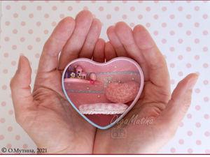 Потайные домики в сердце. Ярмарка Мастеров - ручная работа, handmade.
