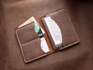 Шьем кожаную обложку для паспорта. Ярмарка Мастеров - ручная работа, handmade.