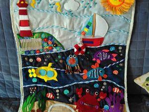 «Море»  — развивающий коврик-картина для малыша. Ярмарка Мастеров - ручная работа, handmade.
