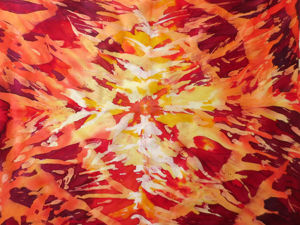 Роспись шелкового платка в экспериментальной технике горячего батика. Ярмарка Мастеров - ручная работа, handmade.