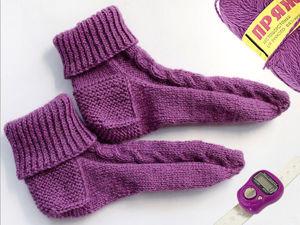 Как связать носки без шва на круговых спицах. Ярмарка Мастеров - ручная работа, handmade.
