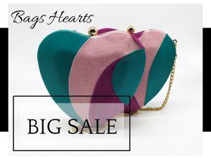 Новая коллекция. Big Sale. Сумочки-сердца. Ярмарка Мастеров - ручная работа, handmade.