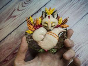 Создаём брошь «Осенние сны». Работаем с полимерной глиной. Ярмарка Мастеров - ручная работа, handmade.
