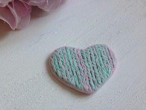 Создаем вязаное сердечко из фоамирана. Ярмарка Мастеров - ручная работа, handmade.