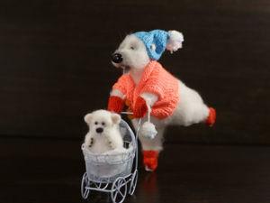 Видео мастер-класс: белые медведи на коньках. Ярмарка Мастеров - ручная работа, handmade.