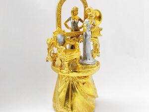 Колокольчик  «Зеркало и красавица» . Златоуст z10753. Ярмарка Мастеров - ручная работа, handmade.