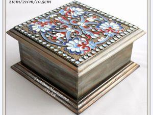 Расписываем шкатулку «Русские эмали». Ярмарка Мастеров - ручная работа, handmade.