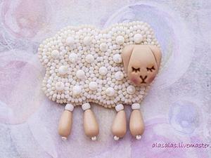 Делаем брошку-овечку. Ярмарка Мастеров - ручная работа, handmade.