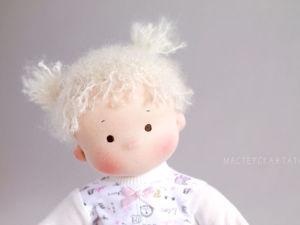 Как сделать куколке пухлые щечки. Ярмарка Мастеров - ручная работа, handmade.