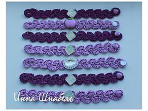 Вяжем фиолетовый браслет со смыслом. Ярмарка Мастеров - ручная работа, handmade.