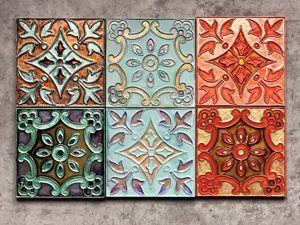 Мастер-класс по декору плитки. 2 часть. Ярмарка Мастеров - ручная работа, handmade.