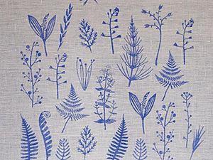 Печатаем штампами и акриловыми красками по ткани. Ярмарка Мастеров - ручная работа, handmade.