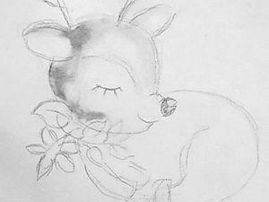 Раскрашиваем оленят акварелью. Ярмарка Мастеров - ручная работа, handmade.