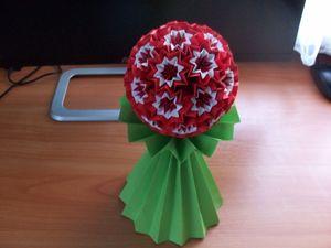 Как сделать шар из бумаги без основы. Новогодний елочный шар. Ярмарка Мастеров - ручная работа, handmade.