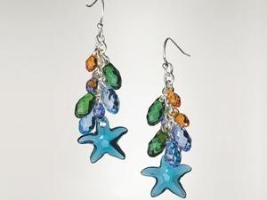 Мастер-класс: серьги «Морские звезды» с кристаллами Swarovski. Ярмарка Мастеров - ручная работа, handmade.