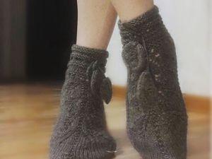 Вяжем Ажурные носочки  «Лепестки». Ярмарка Мастеров - ручная работа, handmade.