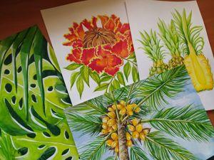 Пишем акварелью тропики!. Ярмарка Мастеров - ручная работа, handmade.