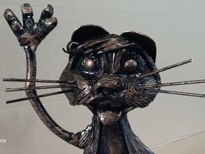 Светильник кот (ковка). Ярмарка Мастеров - ручная работа, handmade.