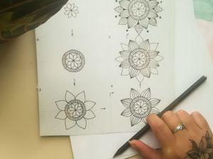 Рисуем мандалу поэтапно. Ярмарка Мастеров - ручная работа, handmade.