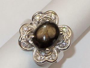 Кольцо с сапфиром серебряное. Ярмарка Мастеров - ручная работа, handmade.