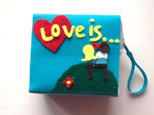 Делаем косметичку в виде жвачки «Love is» своими руками. Ярмарка Мастеров - ручная работа, handmade.