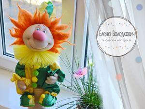 Создание забавного клоуна в чулочной технике. Ярмарка Мастеров - ручная работа, handmade.