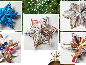 Делаем объемные снежинки из бумаги: 5 способов. Ярмарка Мастеров - ручная работа, handmade.