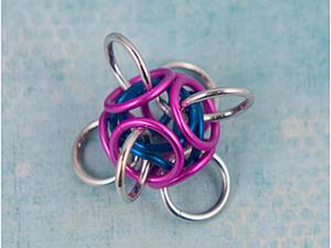 """Кольчужное плетение для начинающих. Модуль """"TetraOrb"""". Ярмарка Мастеров - ручная работа, handmade."""
