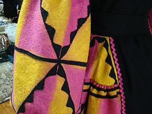 Делаем сами эксклюзивную ткань с элементами геометрического орнамента. Ярмарка Мастеров - ручная работа, handmade.