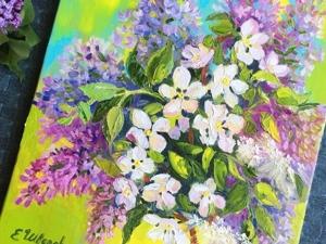 50% скидка на картины с цветами!. Ярмарка Мастеров - ручная работа, handmade.