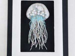 Видео брошь медуза По волнам. Ярмарка Мастеров - ручная работа, handmade.