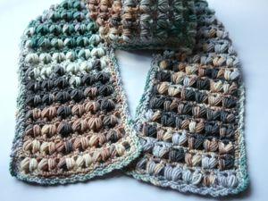 Вяжем крючком шарф для мальчика из секционной пряжи. Ярмарка Мастеров - ручная работа, handmade.