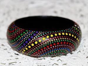 Делаем разноцветный браслет с точечной росписью. Ярмарка Мастеров - ручная работа, handmade.