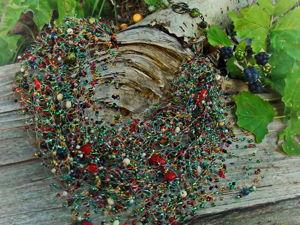 Творим из бисера и бусин: воздушное колье «Осень в лесу». Ярмарка Мастеров - ручная работа, handmade.