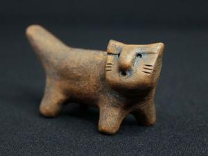 Звучание свистульки «Кот Онурис». Свободный строй. Ярмарка Мастеров - ручная работа, handmade.
