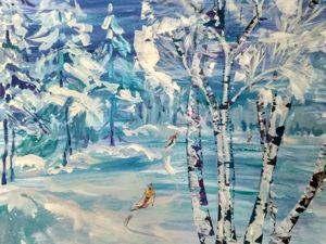 Опыт работы с детьми. Построение композиции зимнего пейзажа. Ярмарка Мастеров - ручная работа, handmade.