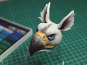Sculpt Gryphon Of Polymer Clay. Livemaster - handmade
