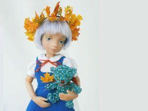 Создаем венок из кленовых листьев для куклы. Ярмарка Мастеров - ручная работа, handmade.